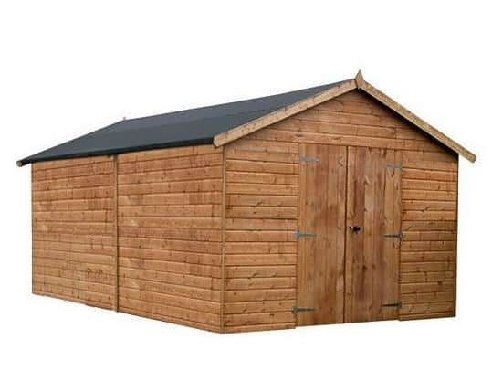 16 x 10 Waltons Groundsman Windowless Tongue and Groove Modular Workshop