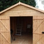 16' x 10' Windsor Groundsman Workshop Shed Wide Open Door