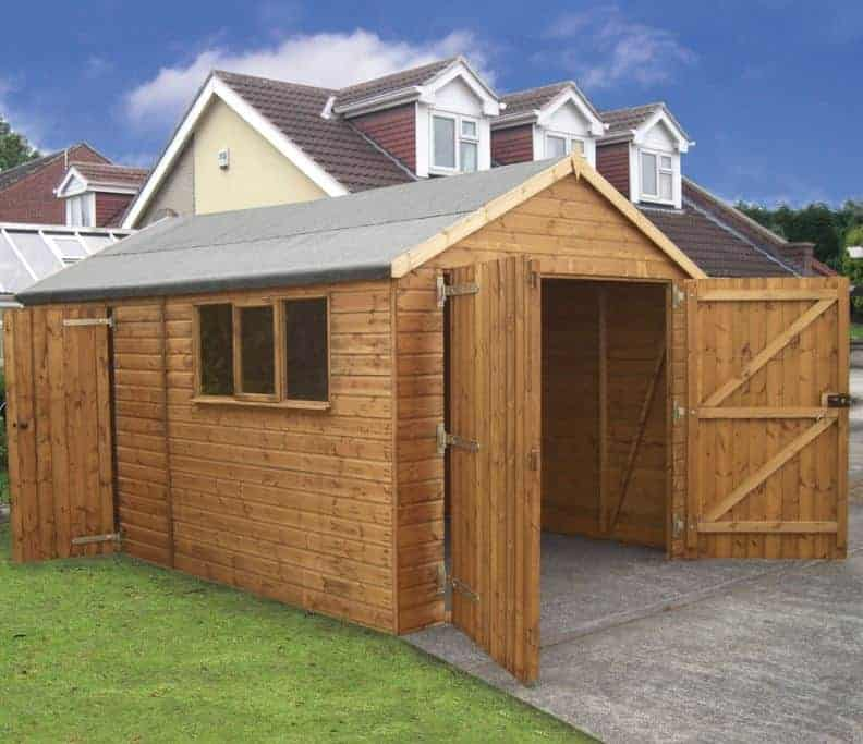 16' x 12' Traditional Deluxe Wooden Garage