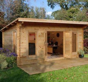 16' x 13' Berkshire Beedon 44mm Log Cabin