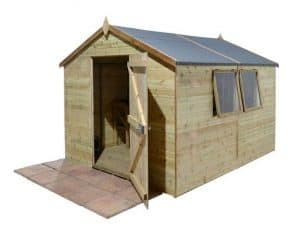 16' x 8' Shed-Plus Champion Heavy Duty Apex Single Door Shed Unpainted