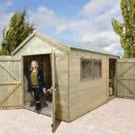 16' x 8' Shed-Plus Champion Heavy Duty Combination Double Door Shed