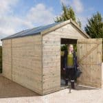 16' x 8' Shed-Plus Champion Heavy Duty Combination Single Door Shed