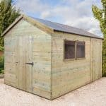 16' x 8' Shed-Plus Champion Heavy Duty Combination Single Door Shed Close