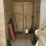 16' x 8' Shed-Plus Champion Heavy Duty Combination Single Door Shed Internal