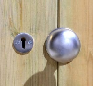 16' x 8' Shed-Plus Champion Heavy Duty Reverse Apex Double Door Shed Door Knob