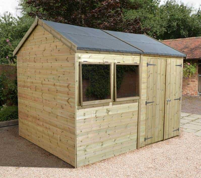 16' x 8' Shed-Plus Champion Heavy Duty Reverse Apex Double Door Shed
