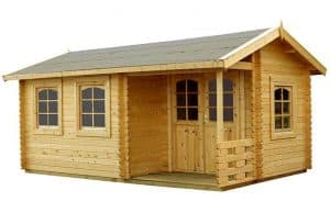 17' x 10' Palmako Susanna 44mm Log Cabin Unpainted