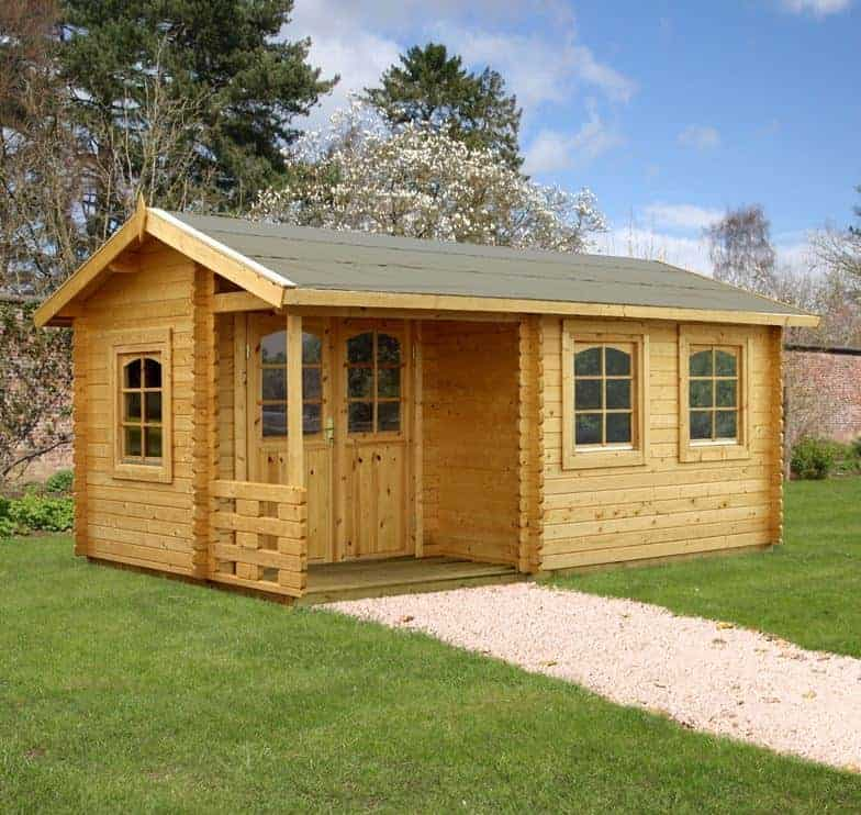 17' x 10' Palmako Susanna 44mm Log Cabin