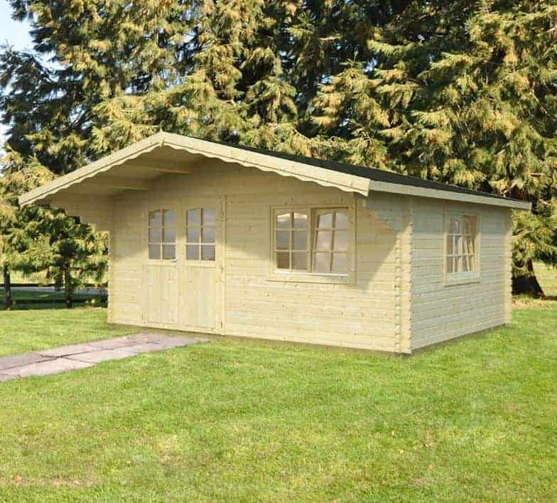 17'x12' Palmako Jessica 44mm Log Cabin