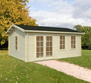 17'x13' Palmako Isabel 44mm Log Cabin