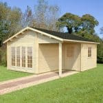 17' x 18' Palmako Grace 44mm Log Cabin