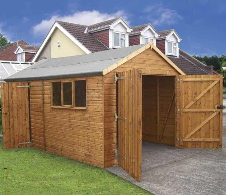18' x 12' Traditional Deluxe Wooden Garage