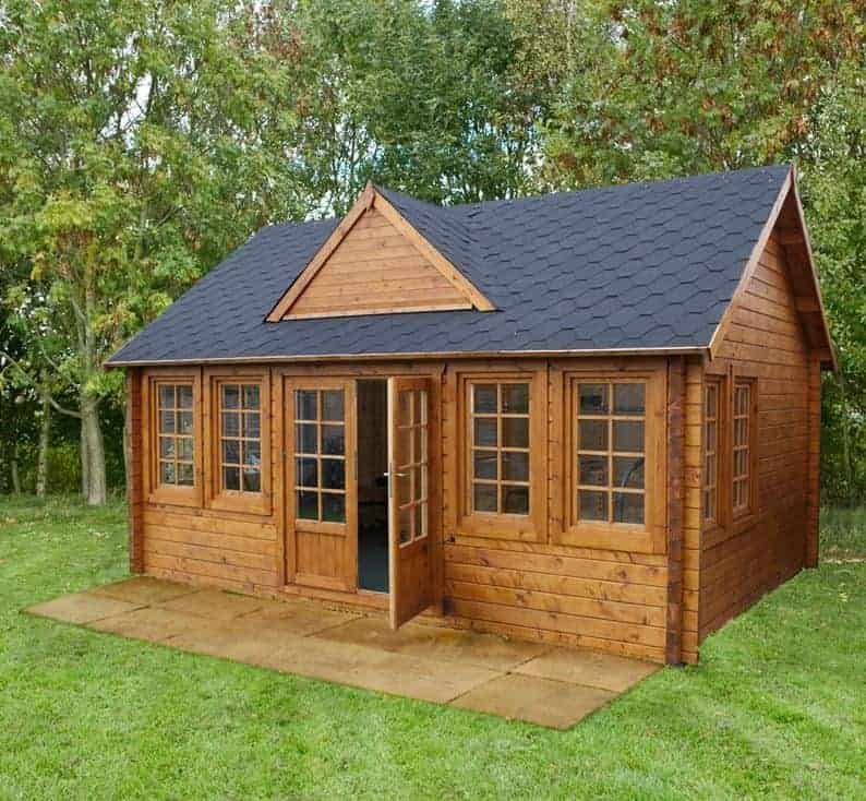 18 X 13 Berkshire Billingbear 44mm Log Cabin What Shed