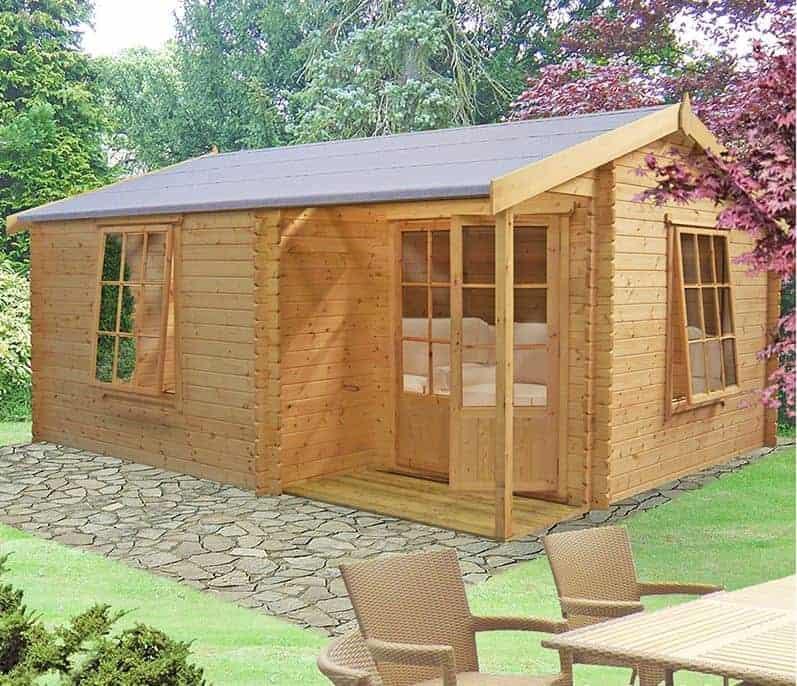 19'6 x 14'9 GardenStyle Azay 3 Log Cabin