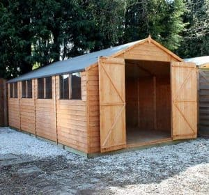 19'9 x 10'2 Windsor Overlap Modular Workshop Open Doors