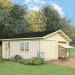 19'x17' Palmako Double Garage - Up and Over Door