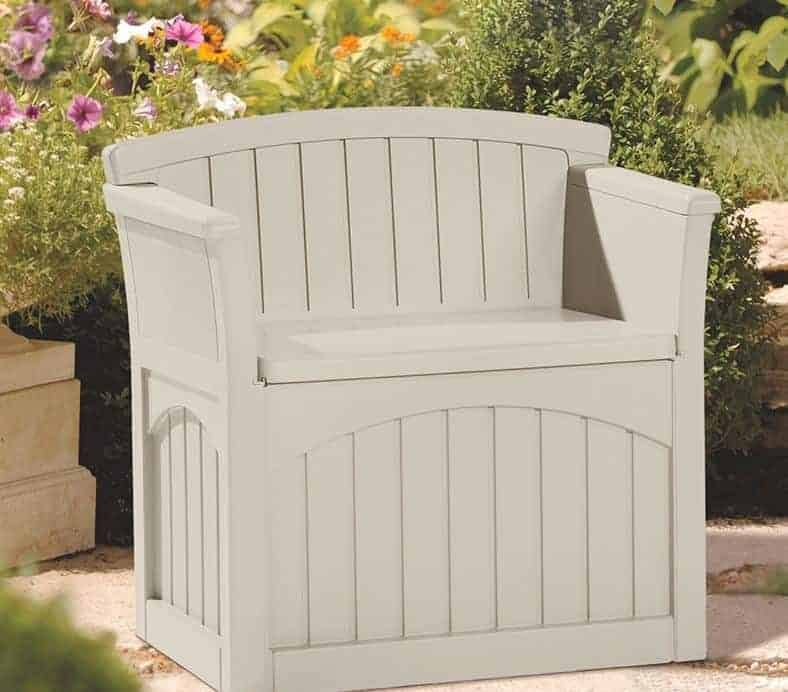 2' x 2' Suncast Patio Storage Seat