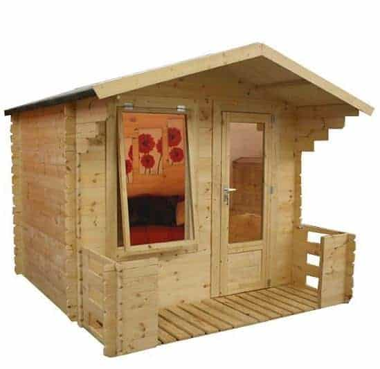 2.5 x 2.7 Walton Mini Studio Log Cabin with Veranda