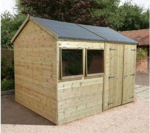 20' x 10' Shed-Plus Champion Heavy Duty Reverse Apex Double Door Shed