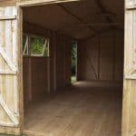 20 x 10 Waltons Groundsman Tongue And Groove Apex Modular Workshop Internal View