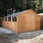 20 x 10 Waltons Overlap Apex Modular Garden Workshop Double Closed Door
