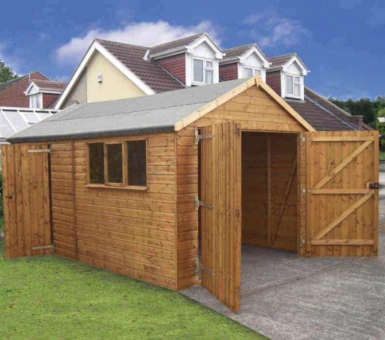 20' x 12' Traditional Deluxe Wooden Garage
