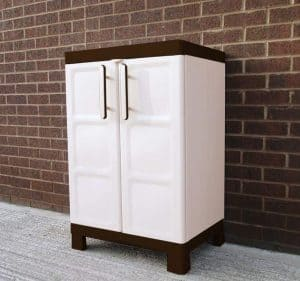 2'2 x 1'6 Chaselink Small Utility Cabinet Double Door Closed