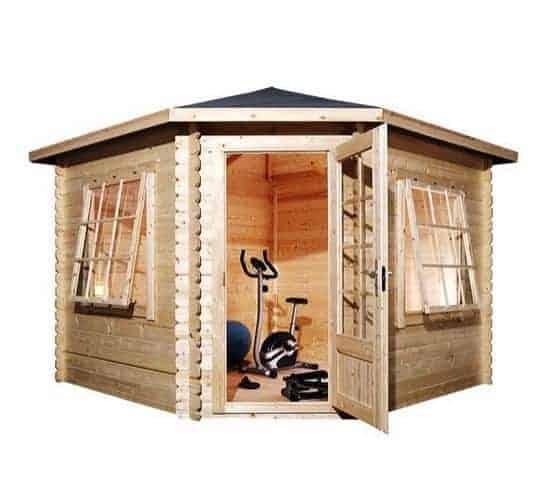 3 x 3 Waltons Corner Log Cabin