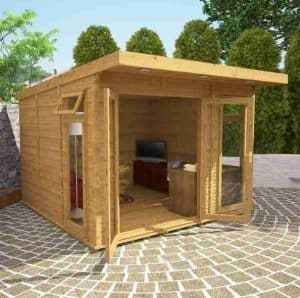 3 x 3 Waltons Insulated Garden Room Open Doors