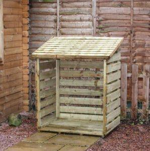 3 x 3 Waltons Single Timber Log Store