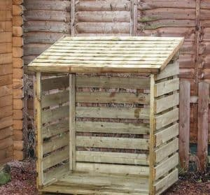 3' x 3' Windsor Single Log Store Unpainted