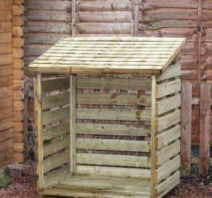 3' x 3' Windsor Single Log Store Unpainted