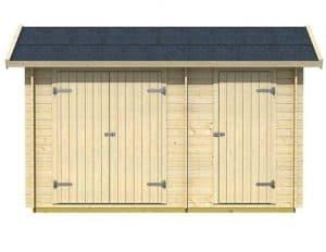 3 x 4 Workshop Log Cabin Front View