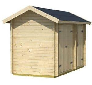 3 x 4 Workshop Log Cabin Side View