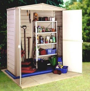 3 x 5 StoreMore Vinyl Hut Apex Metal Shed With floor