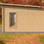 3.5 x 5 Waltons Contemporary Home Office Log Cabin Side View