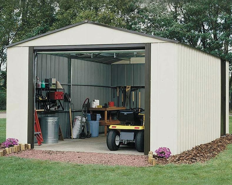 3.71 x 2.97m Arrow Murryhill VT1210 Metal Garage