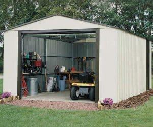 3.71 x 7.35m Arrow Murryhill VT1224 Metal Garage