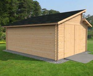 3.8 x 5.4 Waltons Garage Log Cabin 2