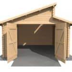 3.8 x 5.4 Waltons Garage Log Cabin Feature