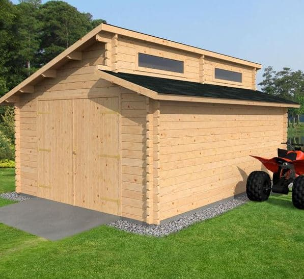 3 8 X 5 4 Waltons Garage Log Cabin What Shed