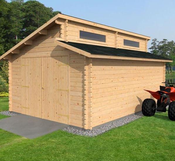 3 8 x 5 4 waltons garage log cabin what shed for Log cabin garage