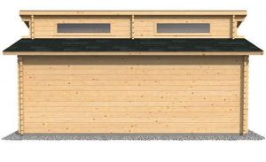 3.8 x 5.4 Waltons Garage Log Cabin Side View