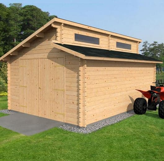 3 8 x waltons garage log cabin what shed for Log cabin style garages