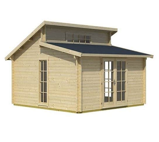 3.95 x 3.95 Rhodos Log Cabin