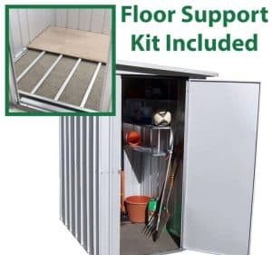 3'11 x 5'2 Yardmaster Pent Metal Shed 54PEZ+ With Floor Support Kit Included