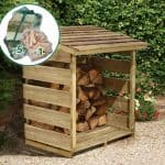 3'9 x 2'1 Store-Plus Log Store including Firewood Pack