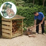 3'9 x 2'1 Store-Plus Log Store including Firewood Pack 2