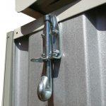 3m x 3.66m Waltons Regent Titanium Easy Build Metal Shed Lock Security